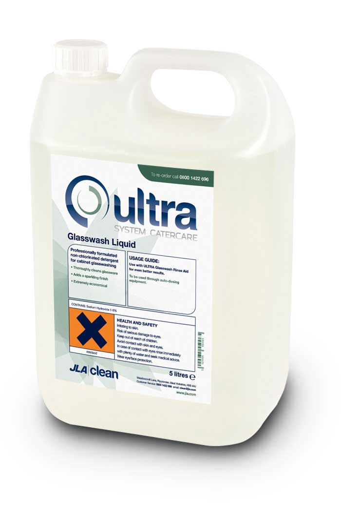 Ultra glasswash liquid
